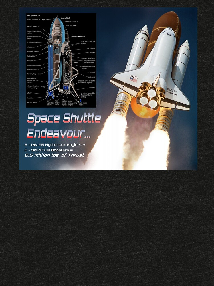 Space Shuttle Endeavour Stats by mikepil