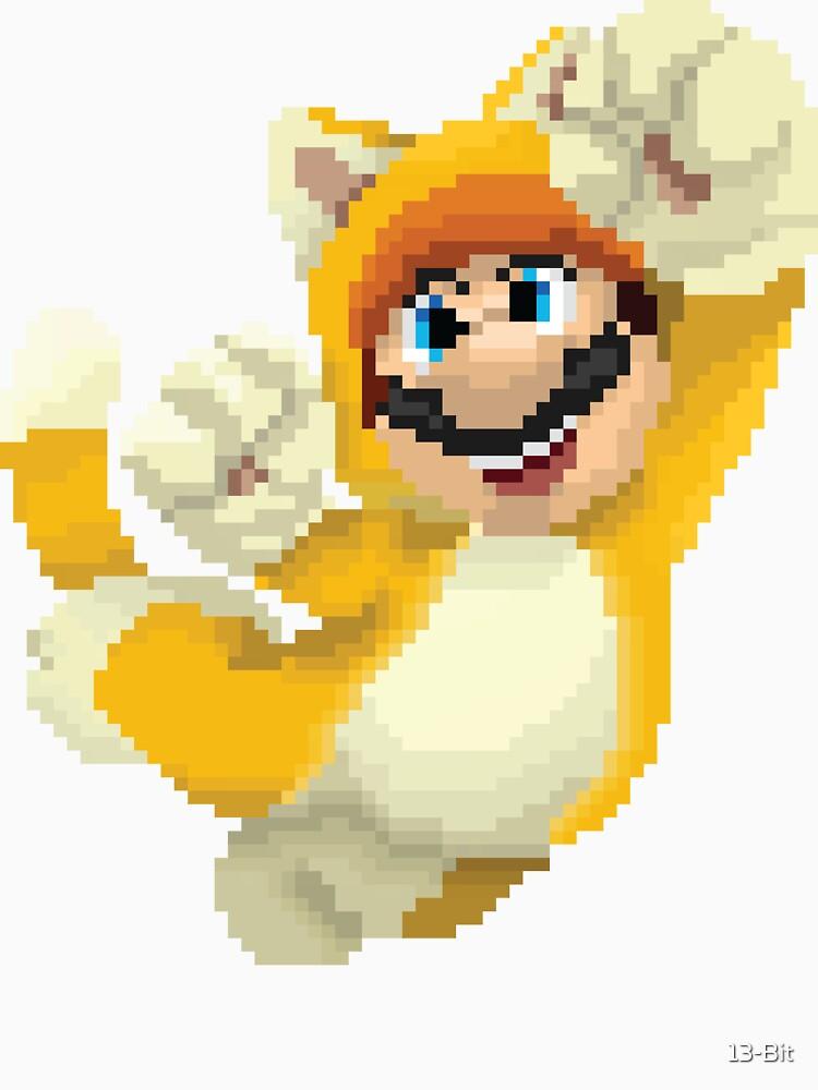 Super Mario 3D World - Cat Mario Pixel Art by 13-Bit