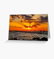 Sonrise greeting cards redbubble sonrise pier greeting card m4hsunfo Images