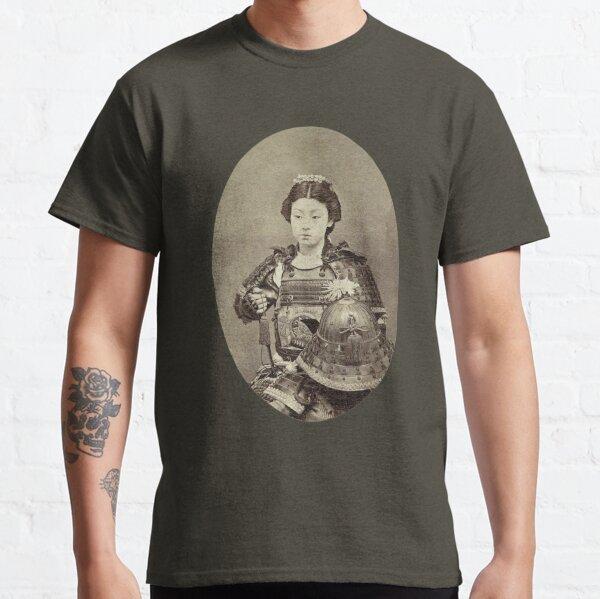 Japanese Kabuki Samurai Woman Classic T-Shirt