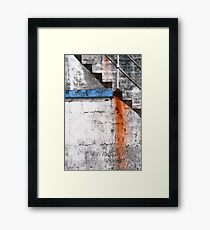 Newlyn Harbour Wall Texture Framed Print