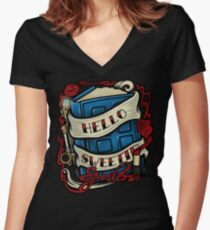 Hello Sweetie (T-shirt) Women's Fitted V-Neck T-Shirt