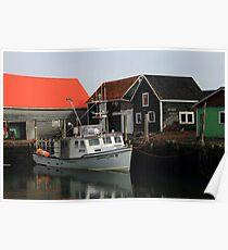 Peaceful Sandford Fishing Boat Scene Poster