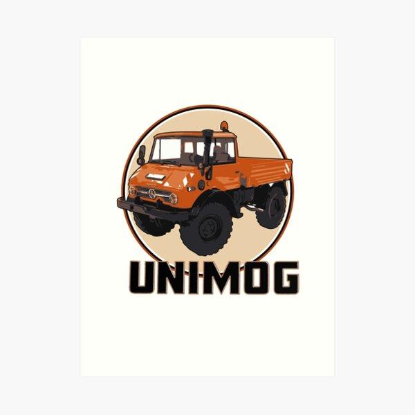 UNIMOG orange Kunstdruck