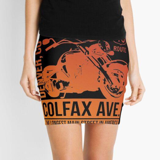 Colfax Motorcycle (orange version) Mini Skirt