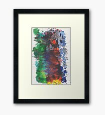 Forest Fire - left side Framed Print