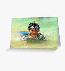 goggles  Greeting Card
