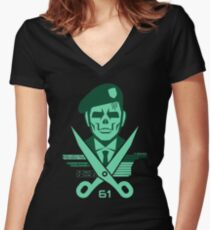 Scissors 61 Women's Fitted V-Neck T-Shirt