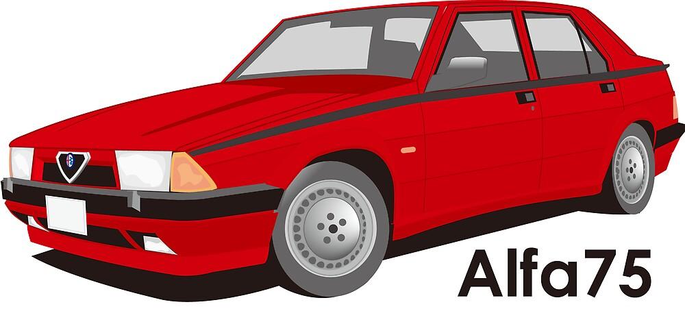 alfaromeo 75 twinspark (red) by scuderiaacero