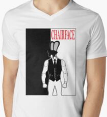 The Tick chairface scarface Men's V-Neck T-Shirt