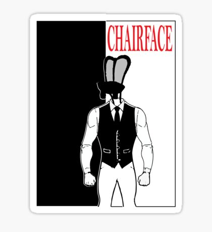The Tick chairface scarface Sticker