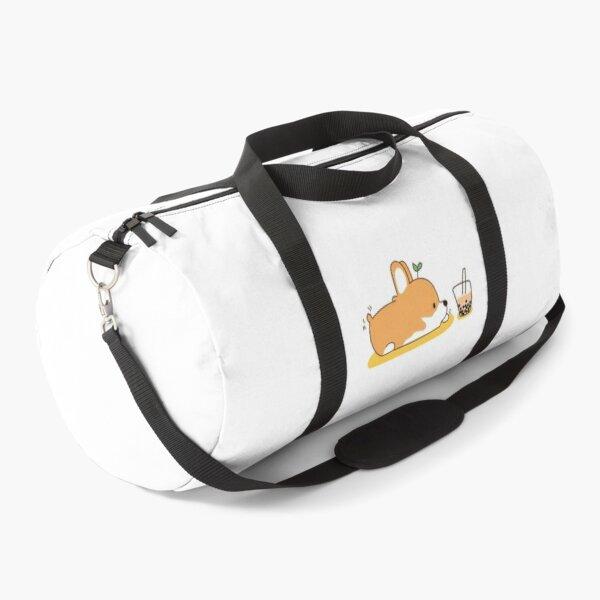 Corgi and Bubble Tea  Duffle Bag