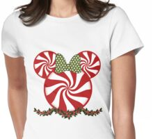 Peppermint Minnie Womens Fitted T-Shirt