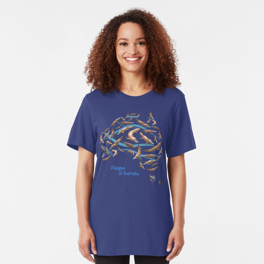 Platpypus Australia Map Slim Fit T-Shirt