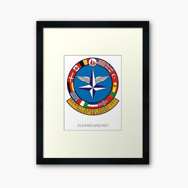 Euro NATO Joint Jet Pilot Training Framed Art Print