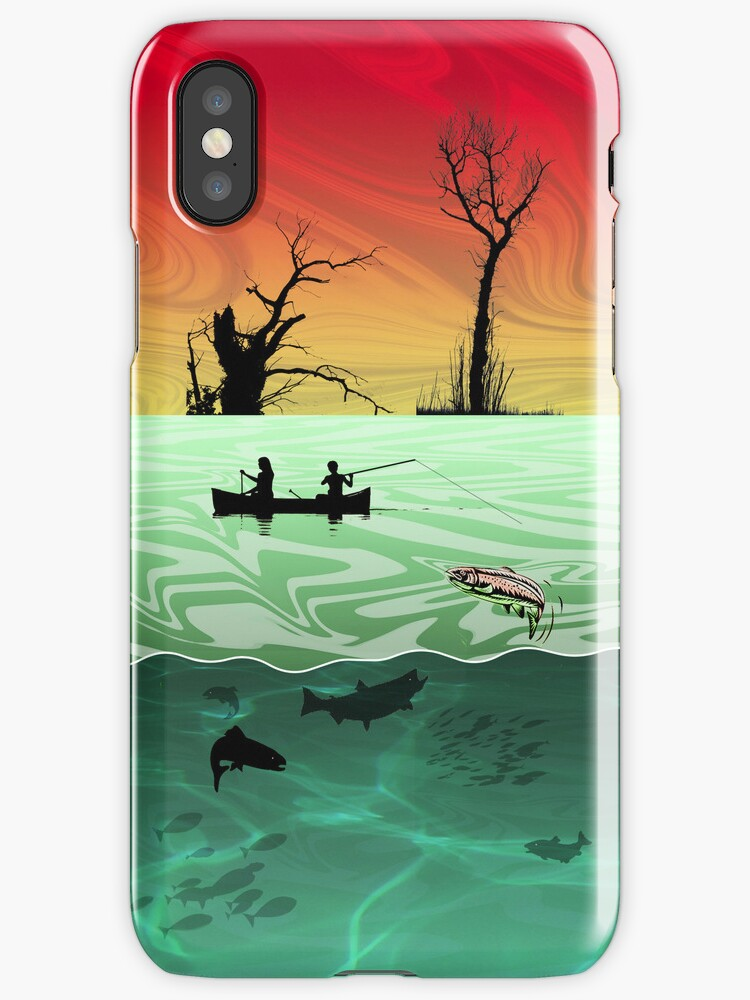 Phone case: Canoe Fishing in the Ardennes by Steven House