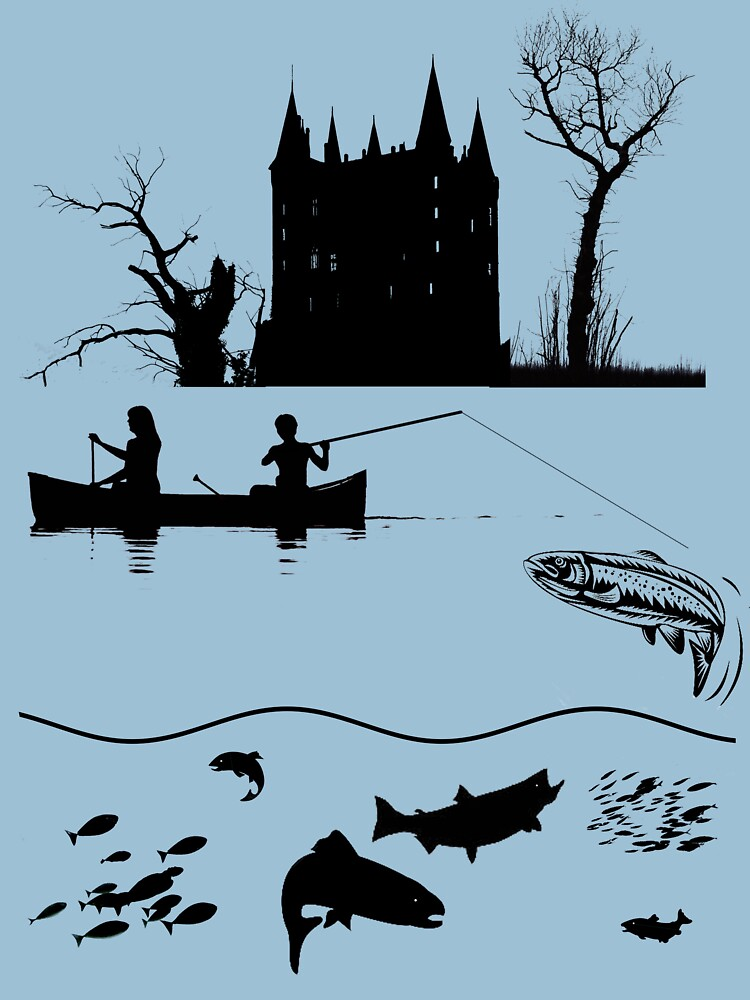 Tee: Canoe Fishing in the Ardennes by stevenhouse