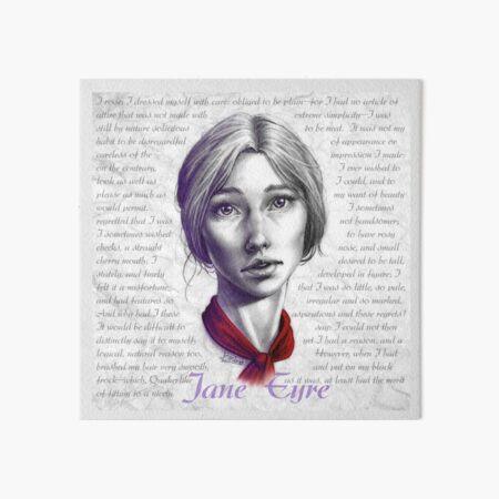 A Portrait of Jane Eyre Art Board Print