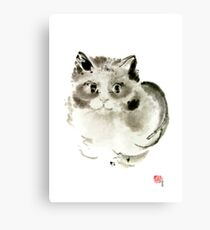 Cat Cats Kitten Funny Meow animal pet ink painting Canvas Print