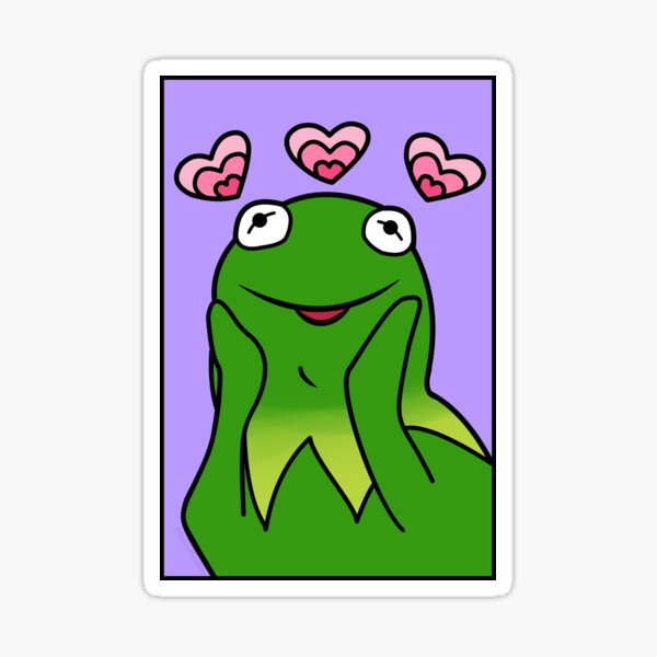 UwU Kermit Emoji Wholesome Sticker