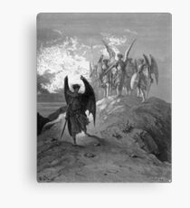 Satan cast out of Heaven Canvas Print