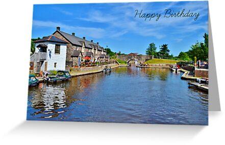 Brecon Birthday Card by Paula J James