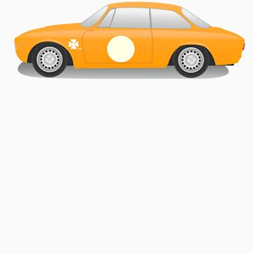 Alfaromeo Giulia 1600GTA Corsa (orange) by scuderiaacero