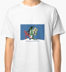 Reading Books is COOL, Penguin with Letters, ABC's, Snow Classic T-Shirt
