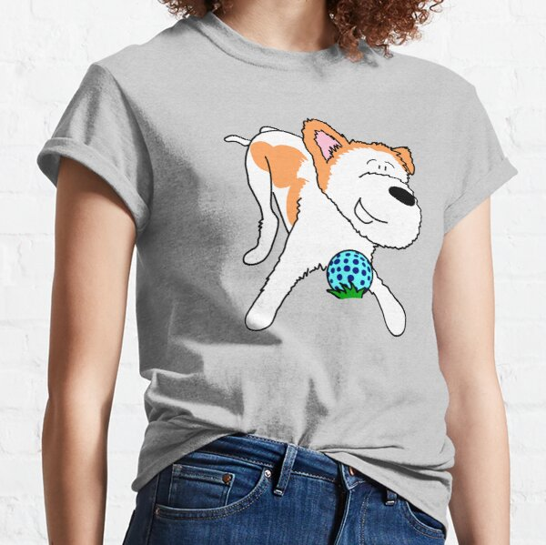 Dog with ball Classic T-Shirt