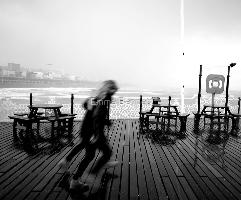 Storm on Brighton Pier by Emma Bennett