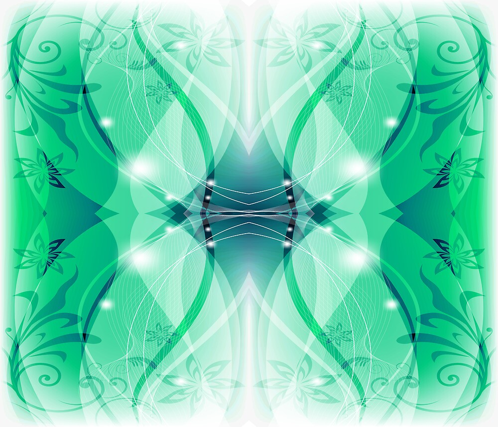 Abstract Floral Pattern by rcurtiss000