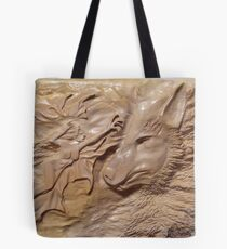 Wood carving work (wolf fairy) Tote Bag