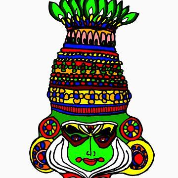 Indian Dance Mask by GiriMan