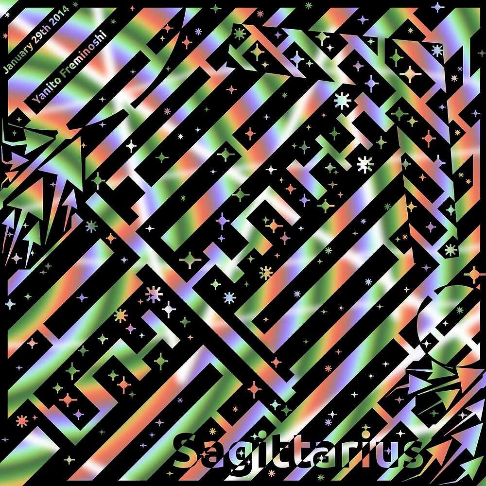 Sagittarius Op Art maze by samantha22mcken
