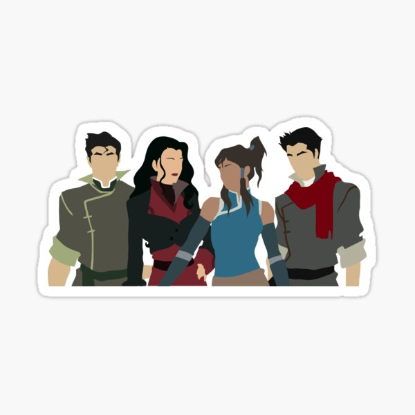 Team Avatar LOK Legend of Korra ATLA Sticker