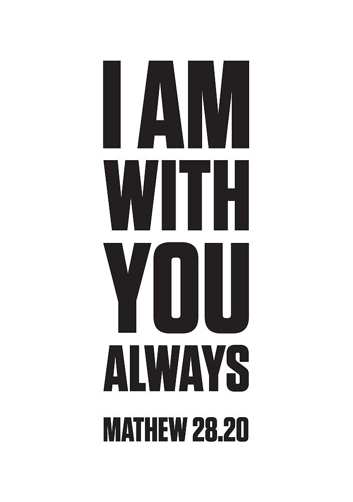 MATHEW 28:20 by chapterandverse