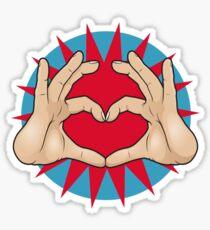 Pop Art Hand Heart Hand Sign Sticker