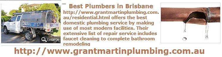 Best Plumbers in Brisbane - www.grantmartinplumbing.com.au by grantmartin