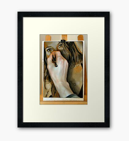 Drawing Anna Framed Print