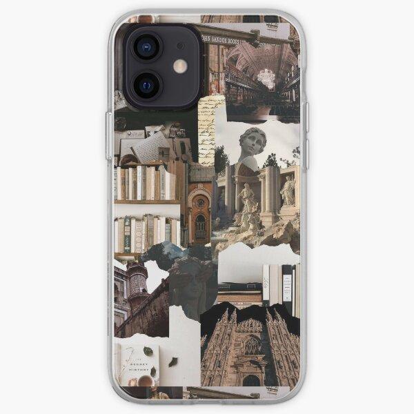 Dark Academia Brown Beige Aesthetic Collage  iPhone Soft Case