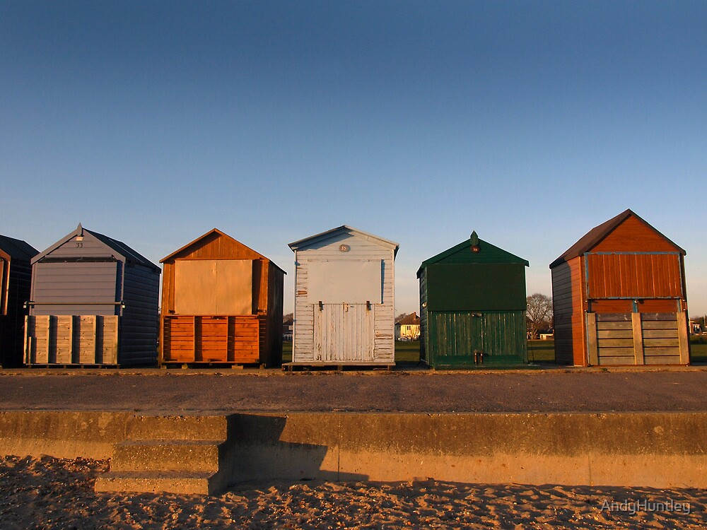Beach Huts by AndyHuntley