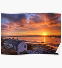 Sunset Views Over The River Wyre Poster