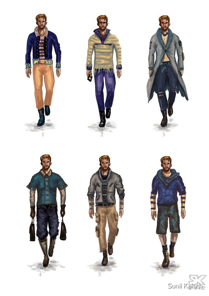 male costume designs by Sunil Kainth