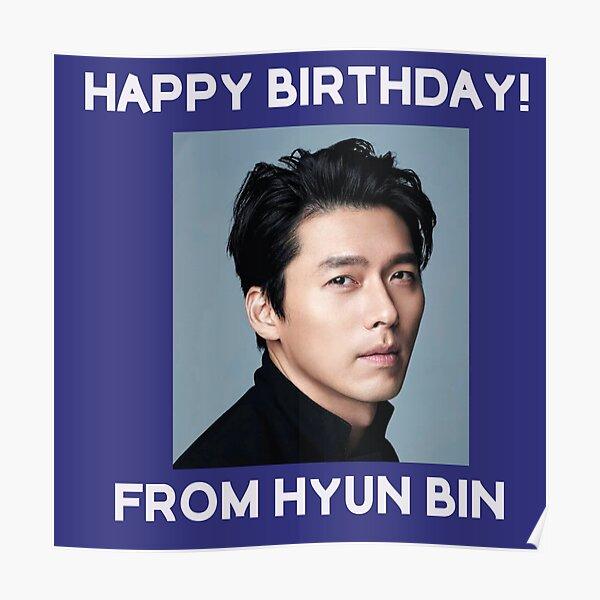 Happy Birthday From Hyun Bin  Poster