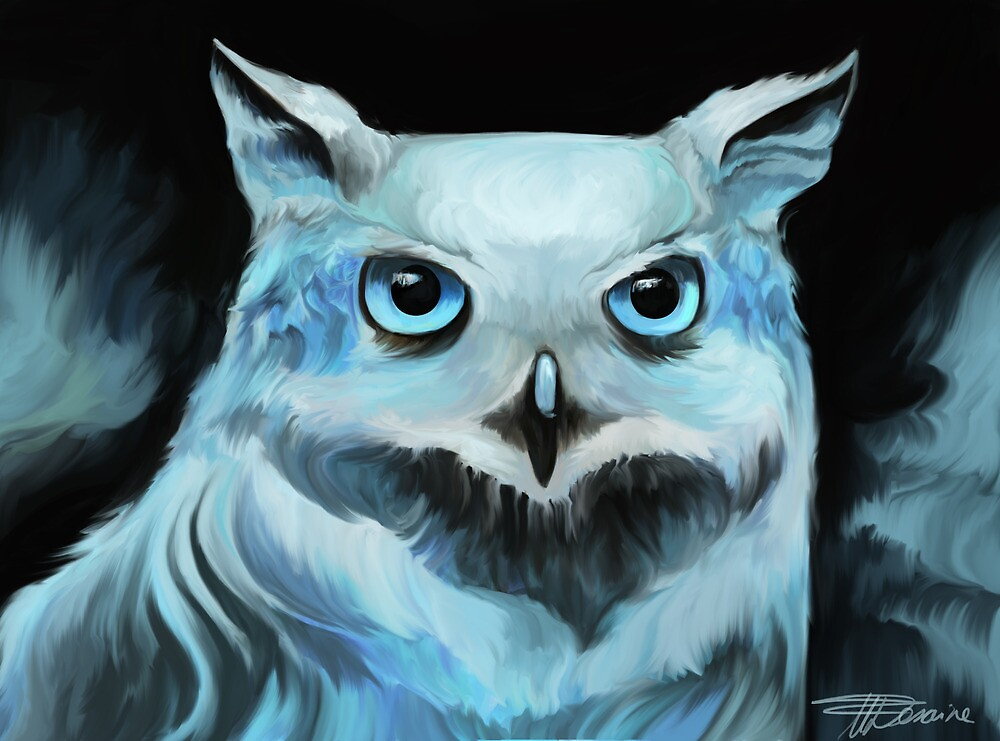 Winter Owl by snowmarite