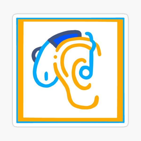 hard of hearing Sticker