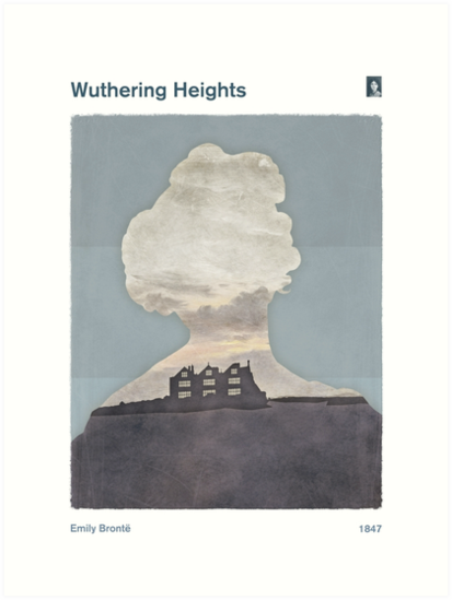 Emily Brontë - Whutering Heights by RedHillPrints