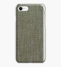 Green fabric texture iPhone Case/Skin
