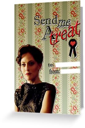 Irene Adler Valentine's Day Card - Send Me A Treat II by thescudders