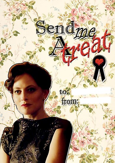 Irene Adler Valentine's Day Card - Send Me A Treat Floral II by thescudders
